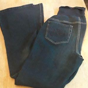 Indigo Blue maternity blue jeans